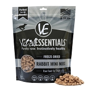 Vital Essentials Rabbit Recipe Mini Nibs Freeze Dried Dog Food, 14-oz bag