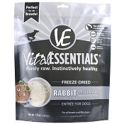 Vital Essentials Rabbit Recipe Mini Patties Freeze Dried Dog Food, 14-oz bag