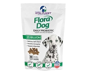 Vital Planet Flora Dog 20 Billion Daily Soft Chews Probiotic for Dogs, 30 Count