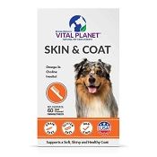 Vital Planet Skin & Coat Chewable Tablets Supplement for Dogs