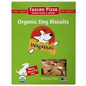 Wagatha's Tuscan Pizza Recipe Organic Dog Biscuits, 16-oz Box