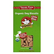 Wagatha's Tuscan Pizza Recipe Little Bites Organic Dog Biscuits, 8-oz Box