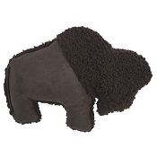 West Paw Big Sky Bison USA Plush Dog Toy, Chocolate
