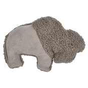 West Paw Big Sky Bison USA Plush Dog Toy, Oatmeal