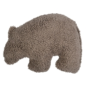 West Paw Big Sky Grizzly USA Plush Dog Toy, Large, Chocolate