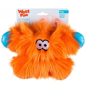 West Paw Rowdies Fergus Dog Toy, Orange