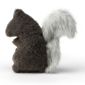 West Paw Sequoia Squirrel Plush Dog Toy, Boulder
