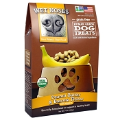 Wet Noses Grain-Free Peanut Butter & Banana Organic Dog Treats, 14-oz Bag