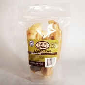 Wild Chewz USA Lamb Ears Dog Treats, Bag of 6
