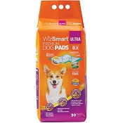 WizSmart Ultra All Day Dry Premium Dog and Puppy Pee Training Pads 8-Cup, 30-Count