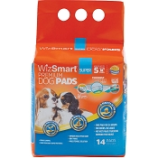 WizSmart Super Premium Dog and Puppy Pee Training Pads 5-Cup, 14-Count