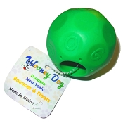 Wooney Maylee Mayhem Ball USA Made Dog Toy, Green, Large