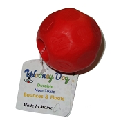 Wooney Maylee Mayhem Ball USA Made Dog Toy, Red, Large