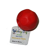 Wooney Maylee Mayhem Ball USA Made Dog Toy, Red, Medium