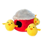 ZippyPaws Burrow Hide and Seek Chicken Hut Squeaky Plush Dog Toy