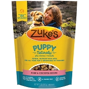 Zuke's Puppy Naturals Pork & Chickpea Recipe Dog Treats, 5-oz bag