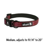 Alcott Red Essential Adjustable Adventure Dog Collar, Medium