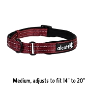 Alcott Red Essential Martingale Adventure Dog Collar, Medium