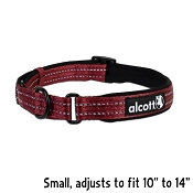 Alcott Red Essential Adjustable Adventure Dog Collar, Small