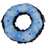 American Dog Nuggles Donut Squeaker Plush Dog Toy Made in USA, Large