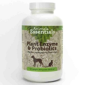Animal Essentials Plant Enzymes & Probiotics for Dogs & Cats, 300-Grams