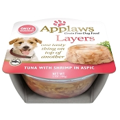 Applaws Tuna with Shrimp In Aspic Moist Dog Food, Pack of 6