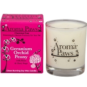 Aroma Paws Geranium Orchid Peony Odor Neutralizing Soy Candle