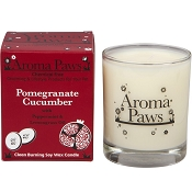 Aroma Paws Pomegranate with Cucumber Pet Odor Neutralizing Soy Candle
