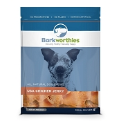 Barkworthies USA Chicken Jerky Dog Treats, 6-oz Bag