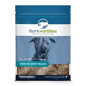 Barkworthies Venison  Jerky Dog Treats, 3-oz bag