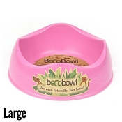 Beco Pets Bowl Pink Eco-Friendly Pet Bowl, Large