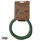 Beco Hoop Green Eco-Friendly Rubber Dog Toy, Large