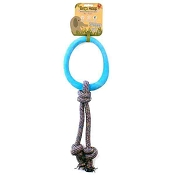 Beco Pets Hoop on a Rope Blue Dog Toy, Large