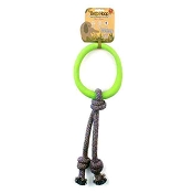 Beco Pets Hoop on a Rope Green Dog Toy, Large