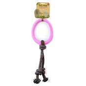 Beco Pets Hoop on a Rope Pink Dog Toy, Large