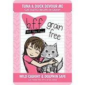 BFF Tuna & Duck Devour Me Recipe in Gravy Grain-Free Cat Food Pouches, 3-oz, case of 12