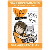 BFF Tuna & Salmon Sweet Cheeks Recipe in Gravy Grain-Free Cat Food Pouches, 3-oz, case of 12