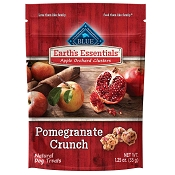 Blue Buffalo Earth's Essentials Apple Orchard Clusters Pomegranate Crunch Recipe Dog Treats, 1.25-oz bag