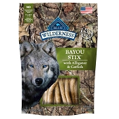 Blue Buffalo Wilderness Bayou Stix Alligator & Catfish Grain-Free Dog Treats, 6-oz bag