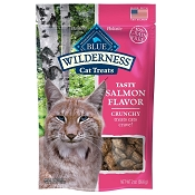 Blue Buffalo Wilderness Salmon Formula Crunchy Grain-Free Cat Treats, 2-oz bag