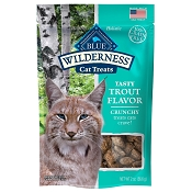 Blue Buffalo Wilderness Trout Formula Crunchy Grain-Free Cat Treats, 2-oz bag