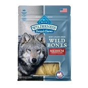 Blue Buffalo Wilderness Wild Bones Medium Dental Chews Grain-Free Dog Treats