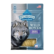 Blue Buffalo Wilderness Wild Bones Mini Dental Chews Grain-Free Dog Treats