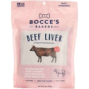 Bocce's Bakery Beef Liver Dog Treats, 6-oz Bag