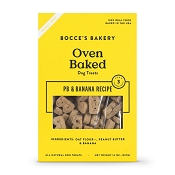 Bocce's Bakery Oven Baked PB & Banana Recipe Dog Treats, 14-oz Bag