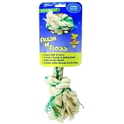 Booda Fresh N Floss Spearmint 2-Knot Rope Bone Dog Toy, Large