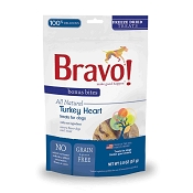 Bravo! Bonus Bites Turkey Hearts Freeze-Dried Dog & Cat Treats