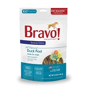 Bravo! Bonus Bites Duck Feet Dry Roasted Dog & Cat Treats, 5-oz Bag