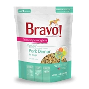 Bravo! Homestyle Complete Pork Dinner Freeze-Dried Dog Food, 2 lb