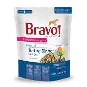 Bravo! Homestyle Complete Turkey Dinner Freeze-Dried Dog Food, 2 lb